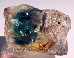 Teal Blue Dichroic Plush Oregon Sunstone